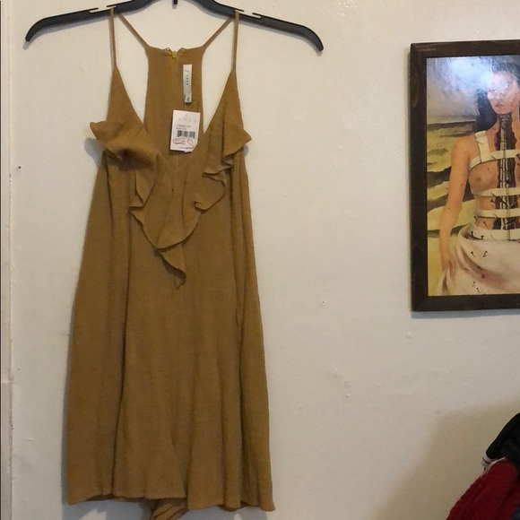 Lush Dresses & Skirts - Lush mustard jumpsuit /short size small